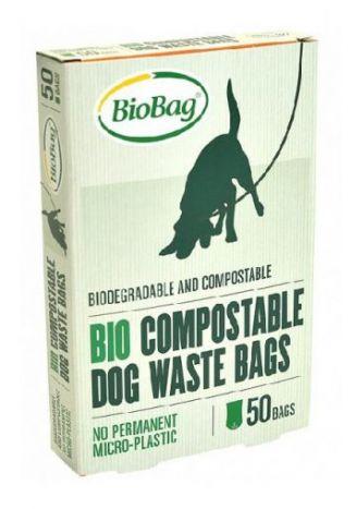 BIOBAG Worki BIOBAG DOG 100% biodegradowalne i kompostowalne, 20x32cm, 50 sztuk w kartoniku